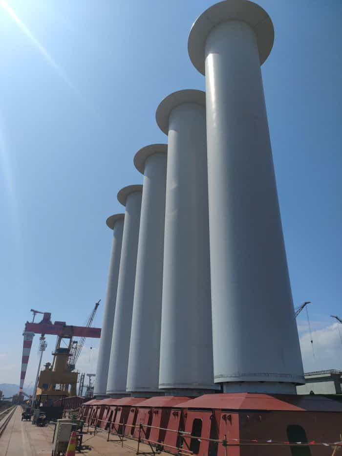 Norsepower Installs Five Tiltable Rotor Sails On A VLOC Chartered By Vale - 1