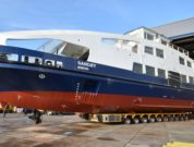 """""""Sandøy"""" is the first fully electric ferry for the Norwegian operator Brevik Fergeselskap and is equipped with two SCHOTTEL RudderPropellers"""