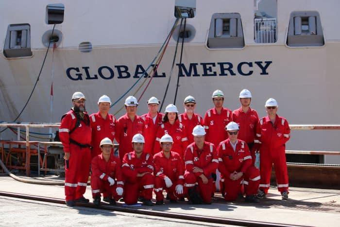 Site team Global Mercy Photo Stena RoRo