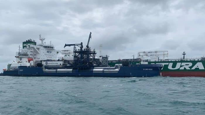 Sovcomflot (SCF Group) and Shell performed a landmark 150th marine LNG fuelling operation for SCF's 'Green Funnel' Aframax tankers