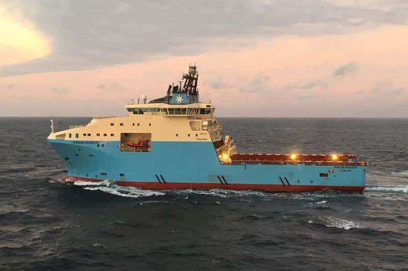 The AHTS vessel 'Maersk Minder' will be fitted with the Wärtsilä HY system to reduce its fuel consumption and emissions. © Maersk Supply Service
