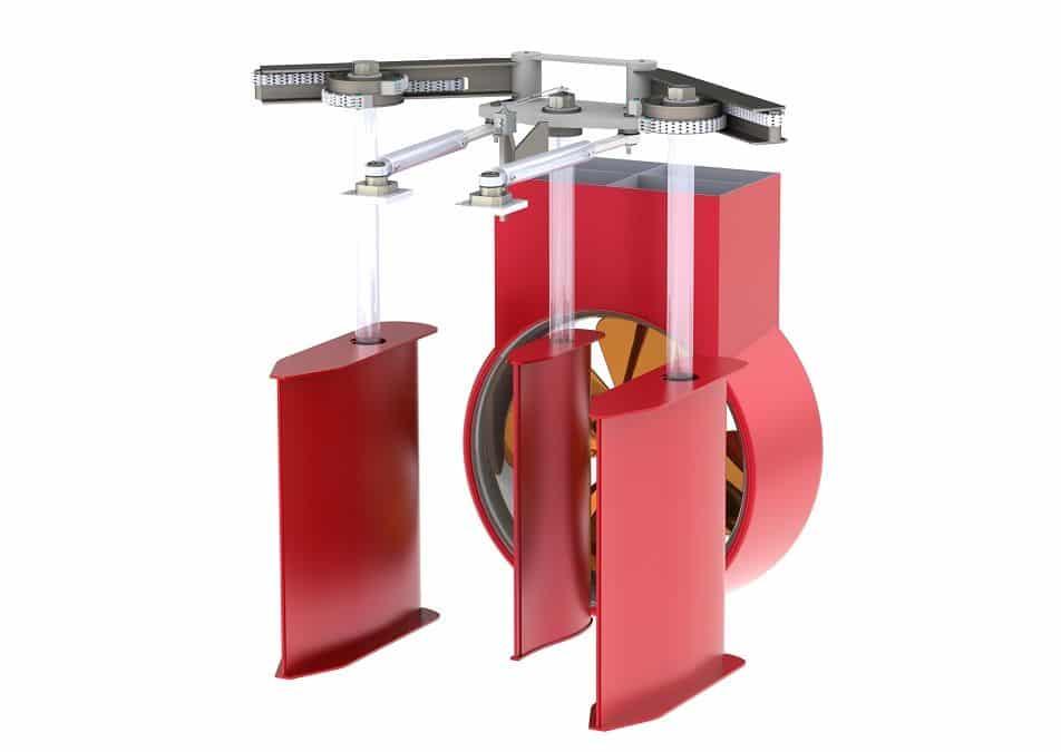 Van der Velden® Three-rudder system