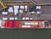 Moving a pyrolysis plant via port of Rotterdam