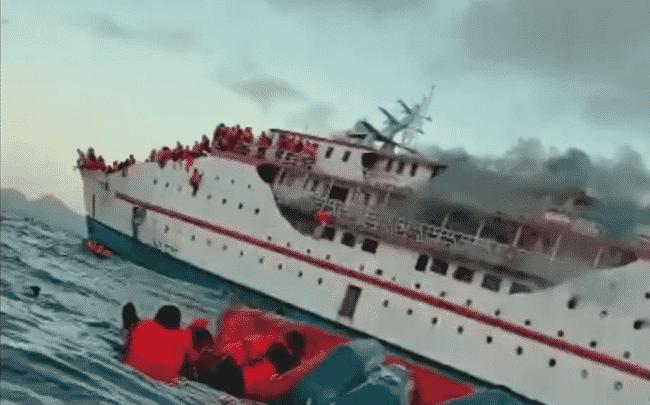 indo passenger ferry fire