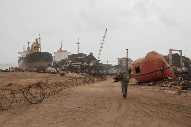 shipbreaking yard
