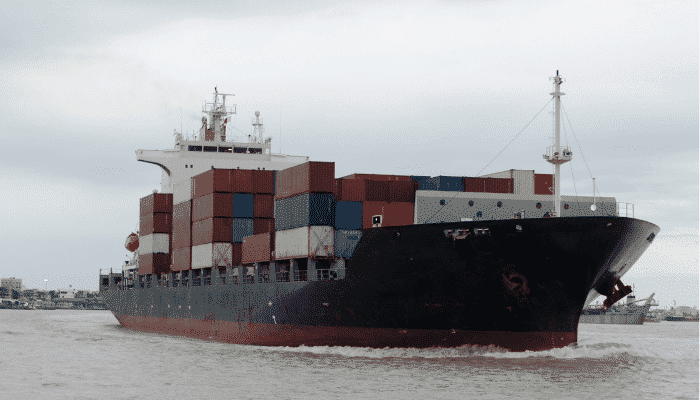 shipping containers ship