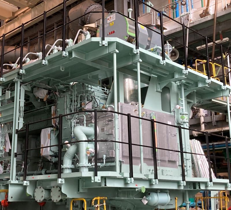 ABB's A255-L turbocharger installed on 6S40ME-B9.5 engine built by Makita