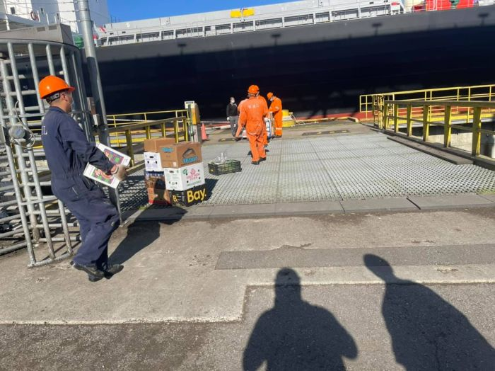 In addition to recovering the wages of crew aboard this vessel in May 2021, ITF Inspector Nathan Smith
