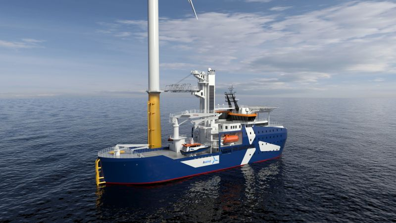 Kongsberg Maritime is to design and equip two specialist double-ended CSOV SOVs for Awind