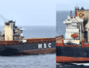 Container ship #MSCMessina with 28 crew about 425nm from PortBlair reported fire in engine room AM 25 Jun & one crew missing. Vessel enroute from Colombo to Singapore