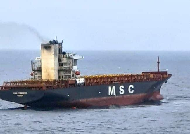 MSC Messina - Port Blair - Fire on board