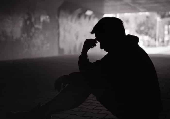 Man distressed - tension - stress