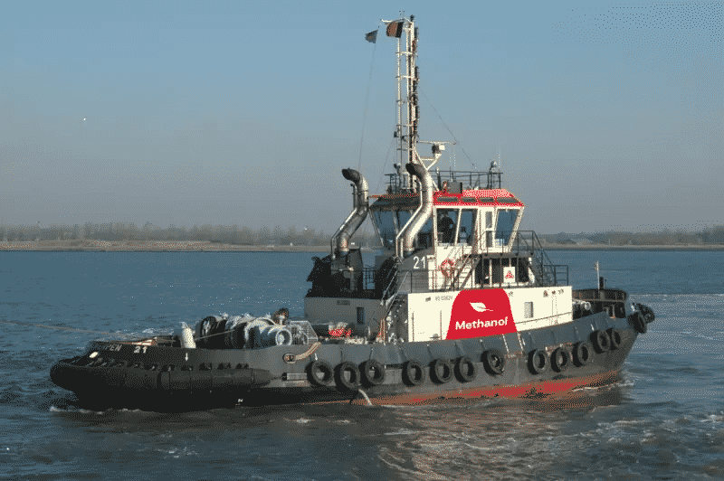 New world first for port of Antwerp methanol-powered tugboat