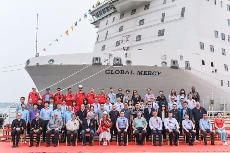 Photo from the ceremony at the shipyard Tianjin Xingang