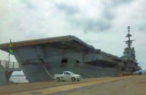 São Paulo aircraft carrier in Rio de Janeiro, 2019