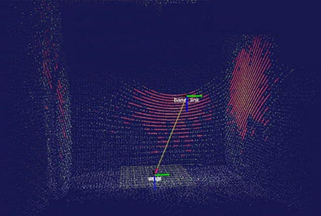 Simultaneous localization inside hold using LiDAR