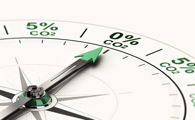3d,Illustration,Of,Conceptual,Compass,With,Needle,Pointing,0,Percent