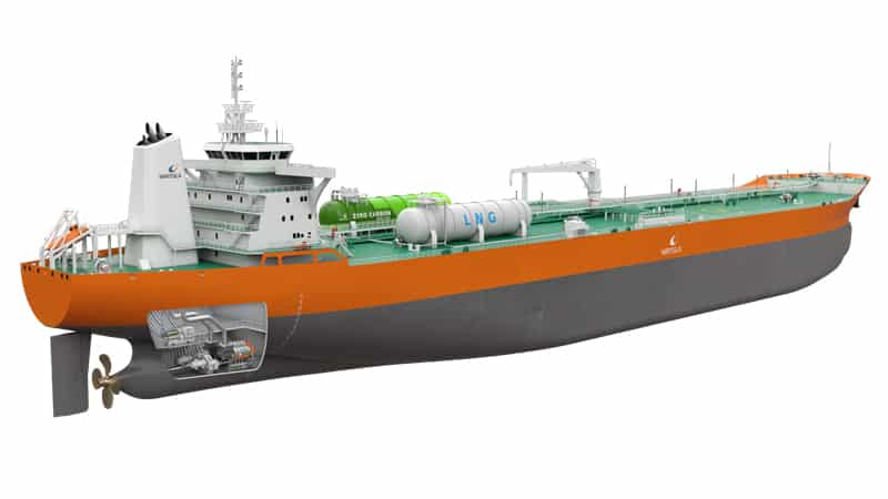 The new propulsion arrangement designed by Wärtsilä and RINA offers a future-proof and efficient alternative to conventional designs