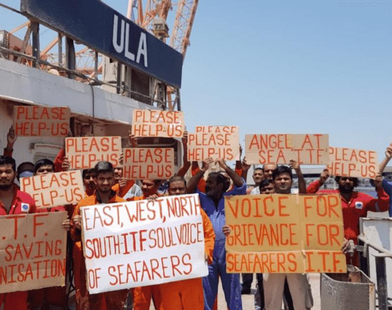 M/V ULA seafarers strike