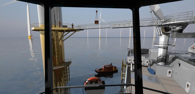 ULSTEIN-SX210-Offshore-Wind-Turbine-Operations-View-Aft-from-SB-Bridge-Wing