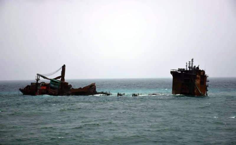 X Press Pearl sunken