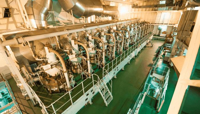 cruise ship engine room
