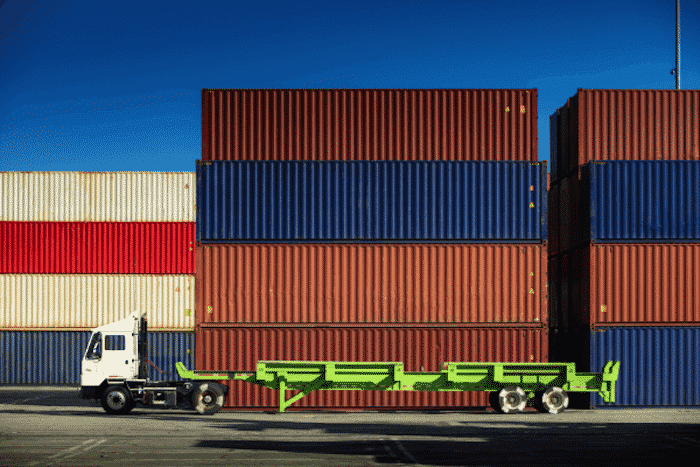 destuffed shipping containers