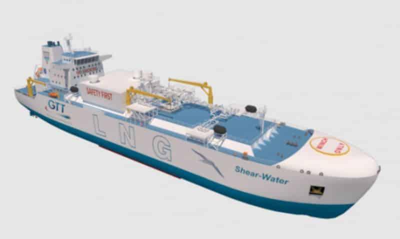 """Ballast-Water-Free"" LNG Bunker & Feeder vessel design"