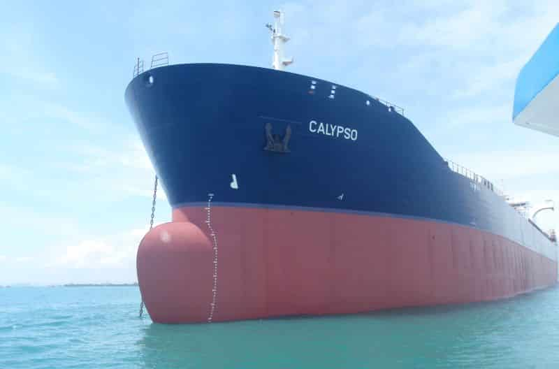 Calypso was painted with the Selektope-containing antifouling coating