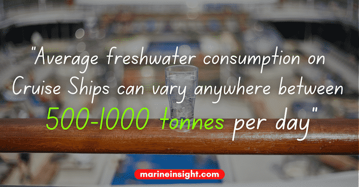 Cruise water consumption