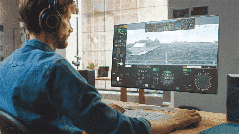 Enabling instruction and training courses via personal computers, laptops and mobile devices, from anywhere and at any time © Wärtsilä Voyage