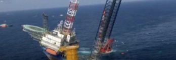 Four missing after a wind farm installation vessel capsized off Chinese coast