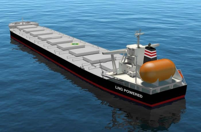 Image of LNG-fueled capesize bulk carrier