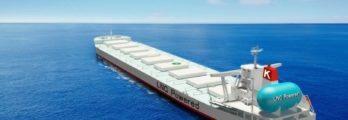 Image of cape size bulk carrier fueled by liquified natural gas