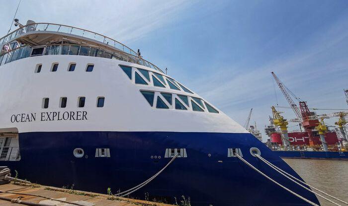 Ocean Explorer launching