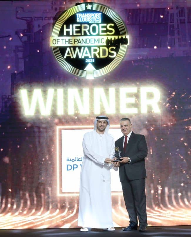 DP World, UAE Region Recognised As Hero Of The Pandemic And The Most Innovative Company