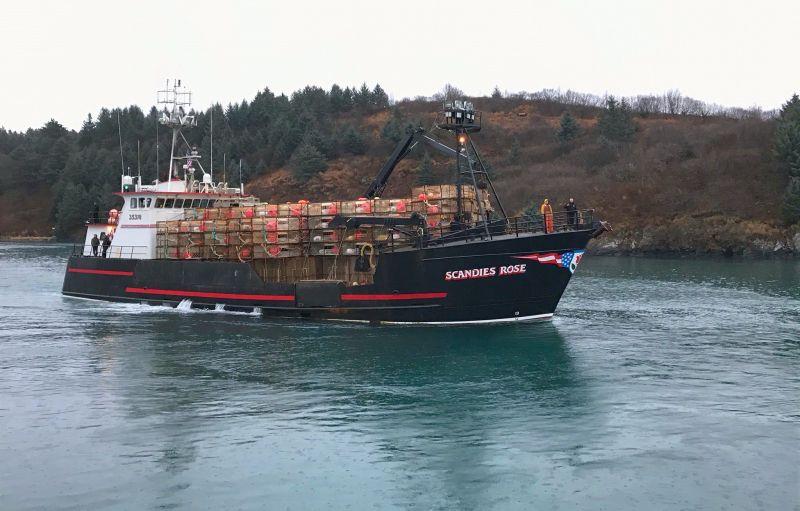 Scandies Rose arriving in Kodiak, Alaska, Photo - Gerry Cobban Knagin