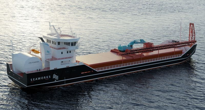 Seaworks' new gas-powered vessel will use an extensive integrated systems package from Kongsberg Maritime