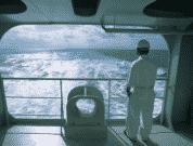 Seafarer gazing at the sea