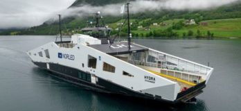 world first liquid hydrogen powered ship
