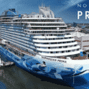 Cruise ship Norwegian Prima - Floats Out of the shipyard as a ginormous beauty