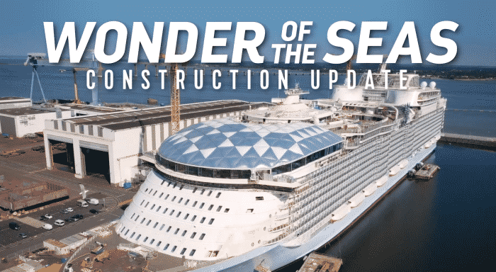 Watch World S Largest Cruise Ship Wonder Of The Seas Taking Its Form