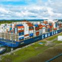 CMA CGM Ship passing panama canal