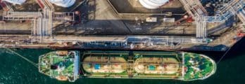 Aerial View of Oil Refinery and Fuel Storage Tanks