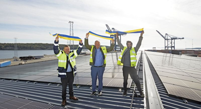 Sweden's Largest Port Solar Cell System Inaugration