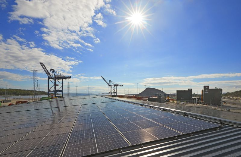 Sweden's Largest Port Solar Cell System Inaugurated At