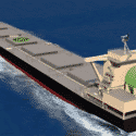 CG of a coal carrier scheduled for actual ship demonstration