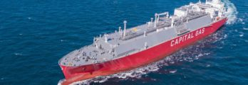 Two new LNG Carriers being built for Capital Gas Ship Management will feature Wärtsilä's advanced shaft generator systems. © Capital Gas Ship Management Corp